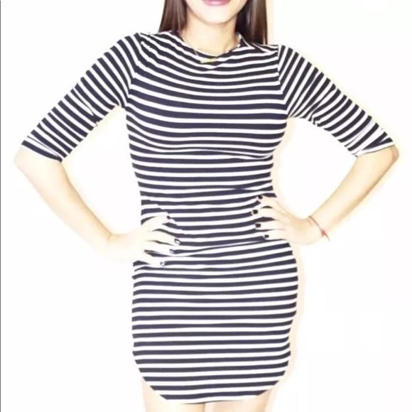 NWT Bodycon Striped Dress - Sizes S-M-L - NEW eb2576c70